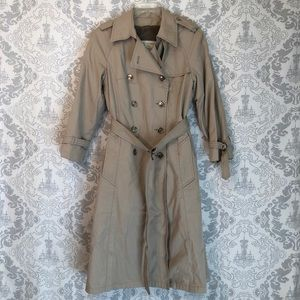 Double Breasted London Fog Tan Trench Coat
